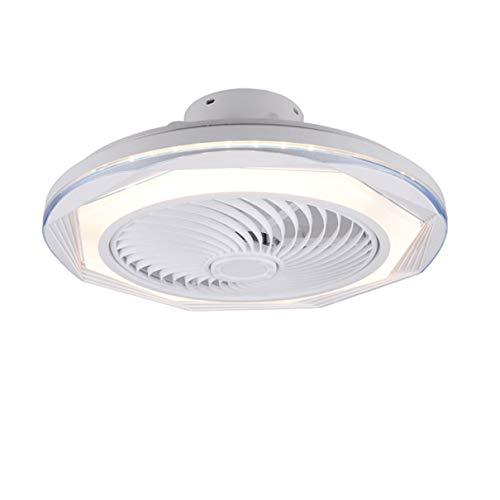 TATANE Invisible Techo Ventilador iluminación 72W Regulable LED Redondo Lámpara de Techo con Mando a Distancia Moderno Silenciar Ventilador Ligero para Sala Habitación Comedor Oficina Ø50CM,D