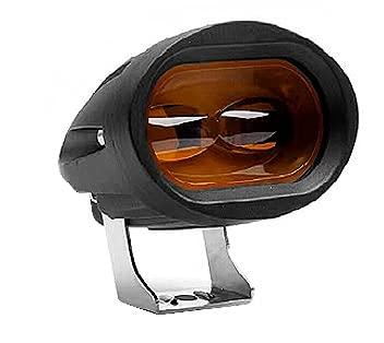 LUBINGMY Linterna Frontal Faro de la Motocicleta Super Brillante Lámpara de Trabajo LED Spotlight 3000lm 6D Accesorios de Moto 3000K 6000K Motor Faro 12V (Color : Yellow)