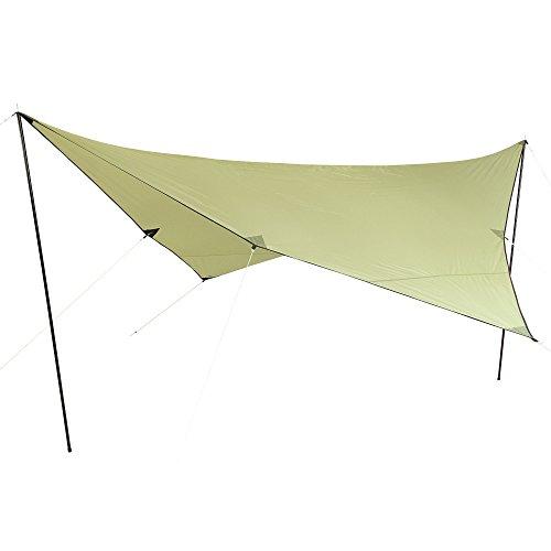 10T Tarp Beechnut 4x4 m zonnezeil UV 80+ zonwering waterdicht zonnedak groen incl. accessoires