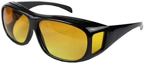 ZYIZEE Gafas de Sol Gafas de Sol TV visión Nocturna para Hombre Gafas para Conductor conducción Nocturna Espejo Ligero Gafas para Mujer y Hombre Amarillo