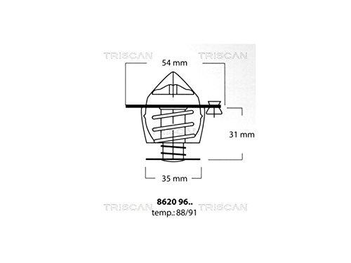 Triscan 8620 9691 Termostato, refrigerante