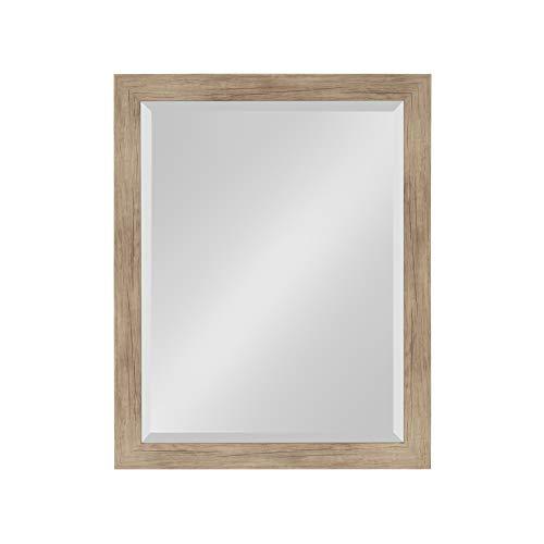 DesignOvation Beatrice Framed Wall Mirror, 21x27, Rustic -
