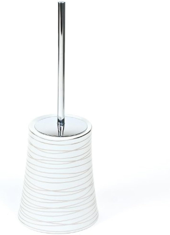 Gedy Gedy 3933-73 Diva Toilet Brush Holder, 2  L x 5.5  W, Grey Silver