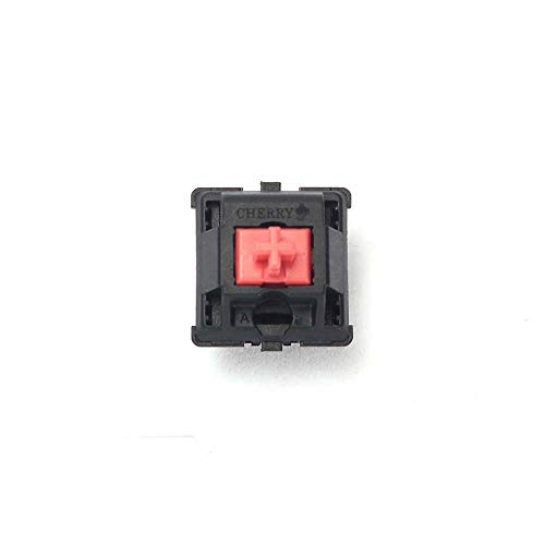 Wholesales Cherry MX Switch - Interruptor mecánico (3 Pines), Color marrón, Azul, Rojo y Blanco Rojo silencioso, 3 Pines. 75 pcs