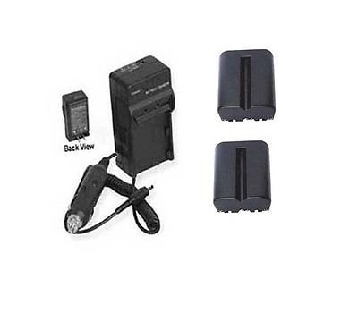 TWO 2X Batteries + Charger for Sony Alpha SLT-A58, Sony SLT-A58K, Sony SLT-A58M, Sony SLTA58KFLBDL