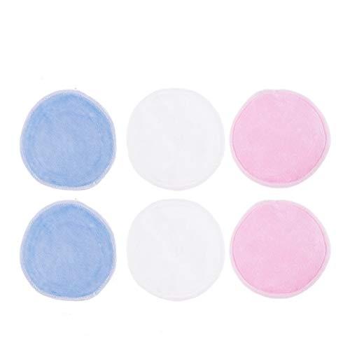 Beaupretty 17 Pcs Maquillage Démaquillant Tampons Coton Tours avec Sac en Fibre de Bambou Tissu Facial Réutilisable Doux pour Le Mascara Oeil Visage Lèvre Blanc Rose Bleu