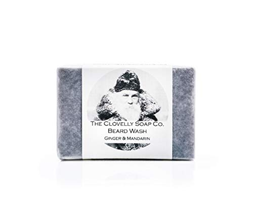 Clovelly Soap Co Natural Handmade Beard Shampoo Soap Bar Ginger & Mandarin...