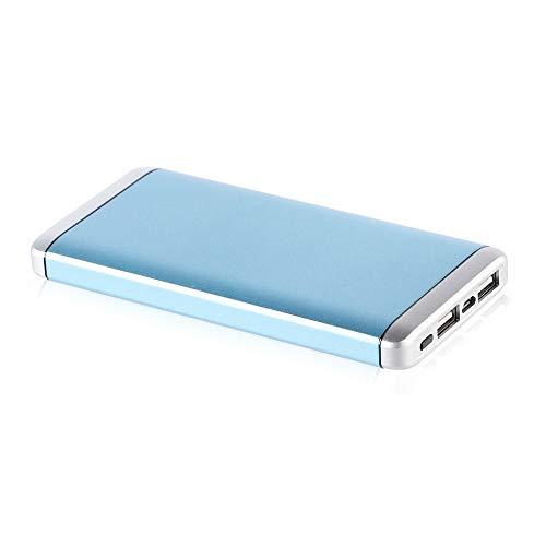 12000 mAh draagbare powerbank externe oplader met 2 USB-poorten.