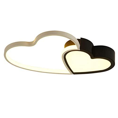 WEI-LUONG Lámpara de araña de Personalidad Romántica Investigación Creativa Sencilla Dormitorio Matrimonio Techo De La Lámpara LED De Aluminio Sala-como Mecha (Color : Stepless dimming, Size : 46W)