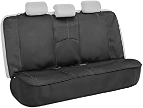 Motor Trend SpillGuard Waterproof Rear Bench Car Seat Cover – Split Bench Compatible with Neoprene Padding, Ideal Back Seat Cover for Cars Baby Kids Dogs, Universal Automotive Seat Cover Truck SUV