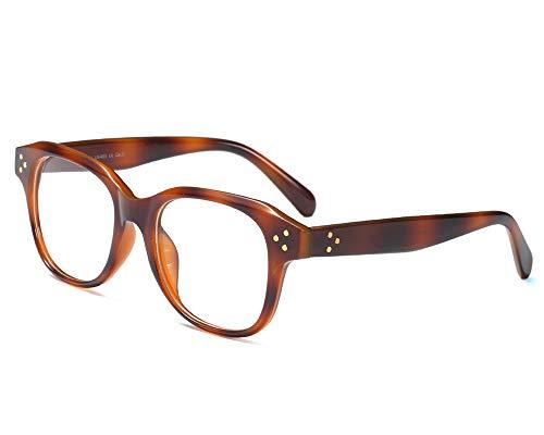 YOFASEN Gafas Planas Delgadas Y Ligeras Para Hombres, Montura De Gafas Cómoda Y Duradera, Antirreflejos Uv400, Aptas Para Conductores De Negocios,Ámbar