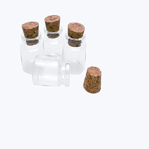 Jarvials Mini botella de cristal vacía con tapón de corcho, el volumen de las botellas de cristal es de 15 ml (12, 15 ml).