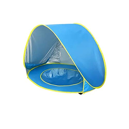 XZGang Baby Tents with Pool, Seaside Play Tent Beach Tent with Awning - Pop Up Tents for Kids Automatic Waterproof Tent Children's space (Color : D, Size : 120 * 80 * 70CM)