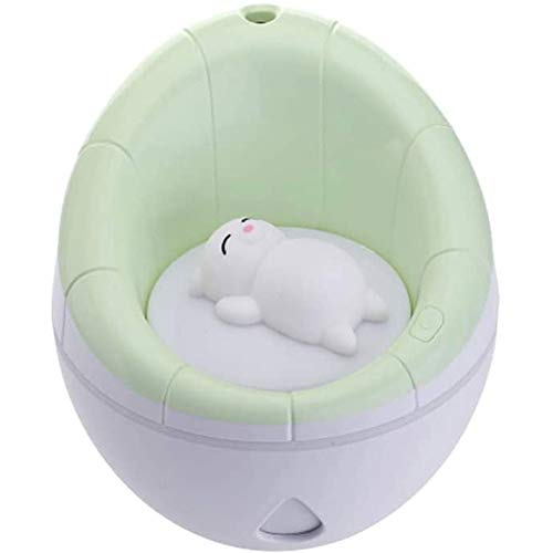 Find Discount Fog Humidifier Cute Air Purifier USB Charging Night Light Cute Bear Desk Home Office B...
