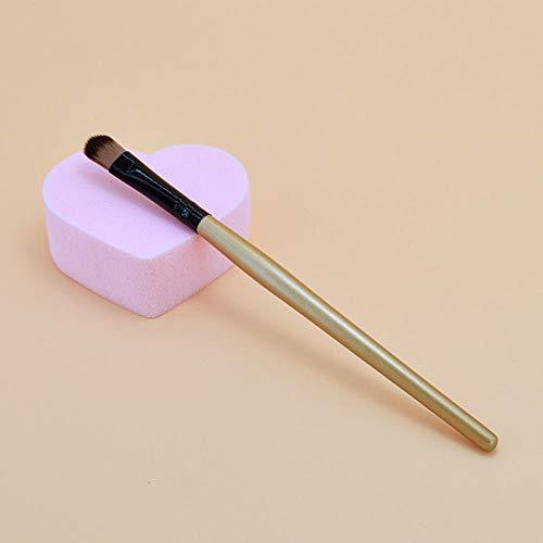 Eye Shadow1Pcs Maquillage Eye Smudge Brush Shadow Eyeshadow Nose Eyeliner Brush Face Nose Powder Foundation Tool Brush -Gold_