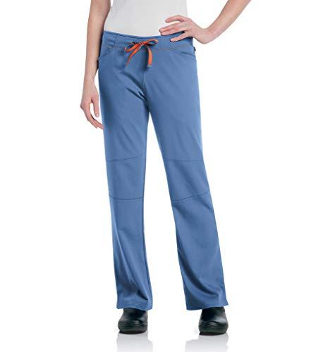 Urbane Women's Ultimate Silky Soft Stretch Medical Drawstring Scrub Pant, Ceil/Papaya, 2X-Large Petite