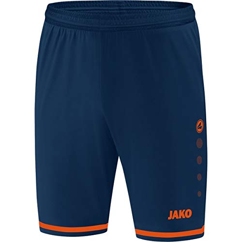JAKO Short de Football pour Enfant, Taille 152, Navy/Flamme
