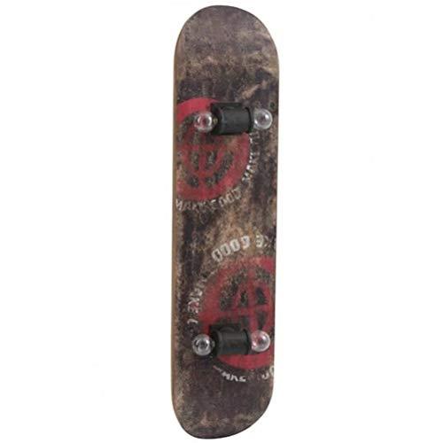 Vintage Lampe Indus Skateboard Holz braun antik rot