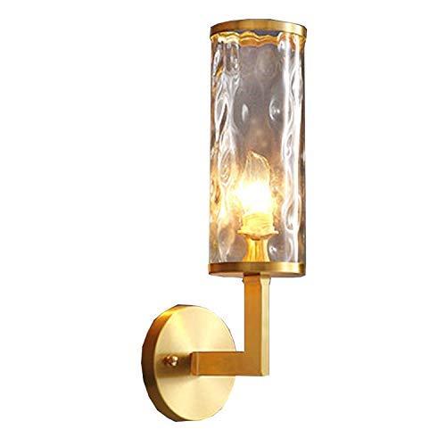 Moderne E14 wandlamp koperen spiegel lichten nachtlampje creatieve ronde muur lamp metalen licht glas lampenkappen interieur wandverlichting voor slaapkamers hotels eetkamer hal trappen balkon