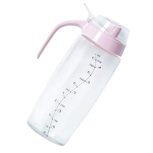 Angoily Botella Dispensadora de Aceite de Oliva con Escala de Vidrio Dispensador de Vinagre a Prueba de Fugas Botella de Aceitera de Salsa Frasco de Salsa Recipiente de Aceite Suministro
