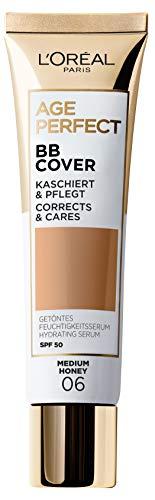L'Oréal Paris Getöntes Feuchtigkeitsserum Age Perfect BB Cover 06 Medium Honey, 1 Stück, AA053000