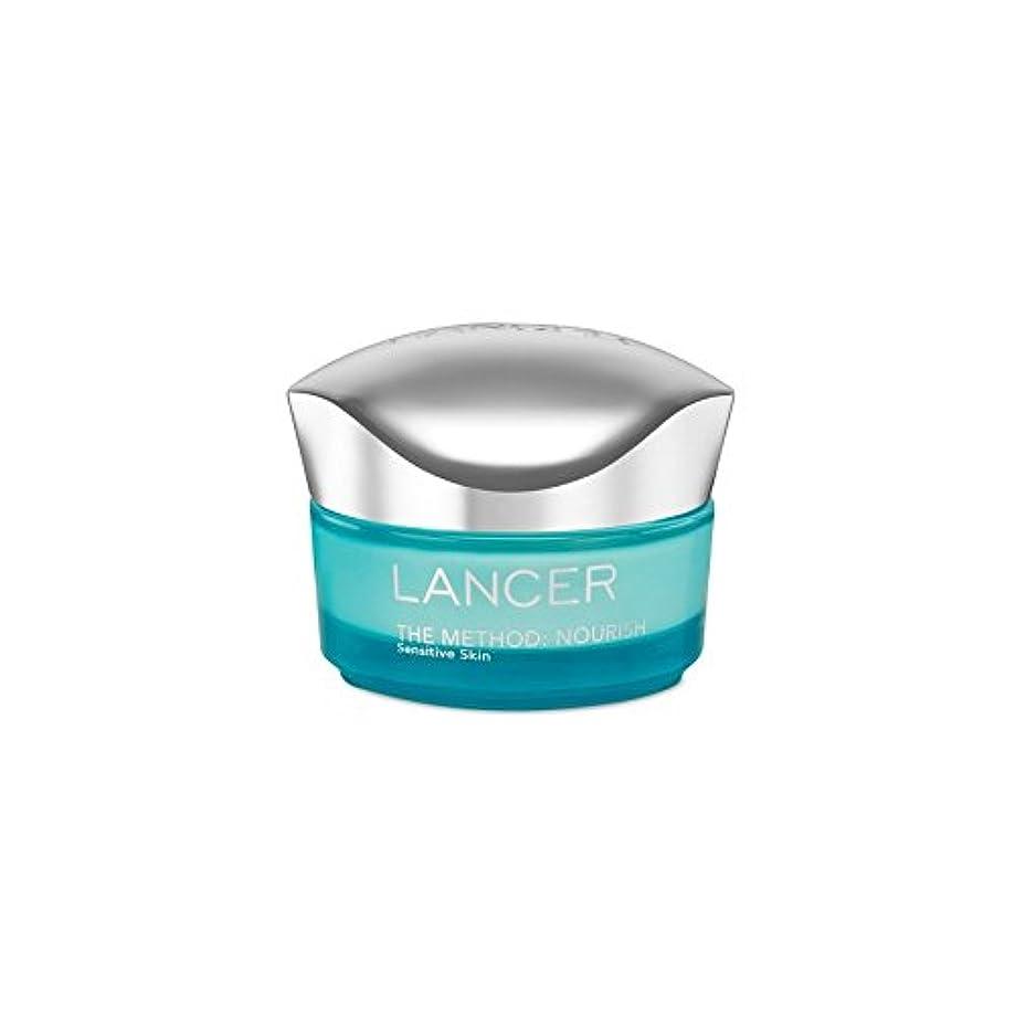 持続的港ベルベットランサーは、この方法をスキンケア:保湿敏感肌(50)に栄養を与えます x4 - Lancer Skincare The Method: Nourish Moisturiser Sensitive Skin (50ml) (Pack of 4) [並行輸入品]