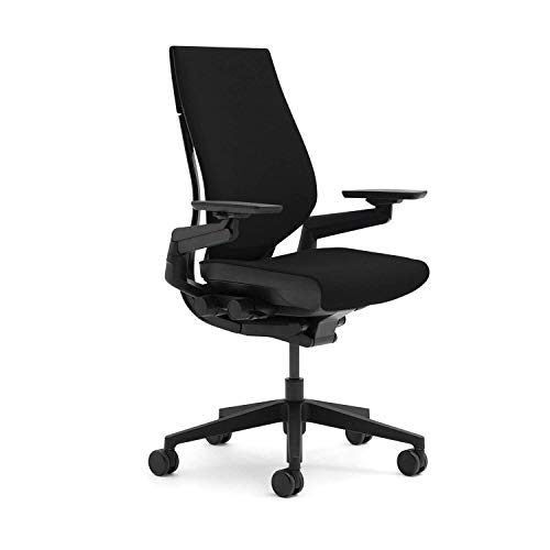 Steelcase Gesture Black Edition Bezug Steelcase Atlantic AT04 Black-Schwarz, Stofftop mit Stofftop