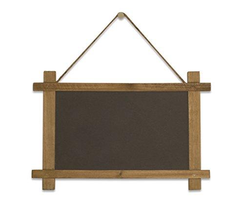 "Vintage Framed Hanging Slate Chalkboard Sign (15""x10"") - Decorative Hanging Chalk Board for Rustic Wedding Signs, Kitchen Pantry & Wall Decor"