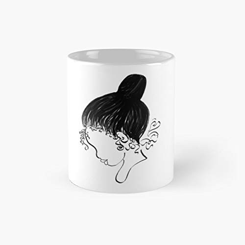 Ballerina Bun Silhouette Classic Mug Best Gift Funny Coffee Mugs 11 Oz