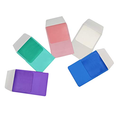 Lomsarsh Bolso para bolígrafo de 5 paquetes Protector de bolsillo resistente para camisas Batas de laboratorio Pantalones Estuche de lápices de color multiusos Bolsillo para bolígrafo de PVC