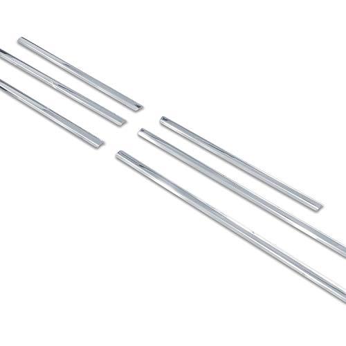 RE&AR Tuning Compatible para Bmw X5 1999-2007 Moldura de Ventanas Cromo Acero Inoxidable 6 piezas