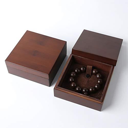 ZANZAN Caja Joyero Caja De Joyería De Madera Maciza Caja De Regalo De Joyería Portátil Conjunto Collar Pulsera Pendiente Pendiente Caja De Exhibición Cajas de joyería (Color : Jewelry Box G)