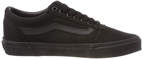 Vans Herren Ward Sneakers, Schwarz (Canvas) Black 186, 40 EU