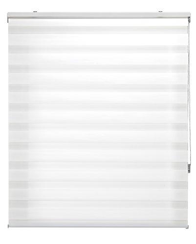 Blindecor LIRA - Estor enrollable de doble capa Noche y Día, Blanco Roto, 150 x 180 cm
