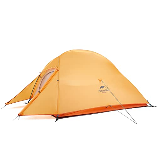 Naturehike Tienda de Campaña Mejorar Cloud Up 2 Persona Tienda de Trekking Ultraligero Impermeable (210T Naranja)