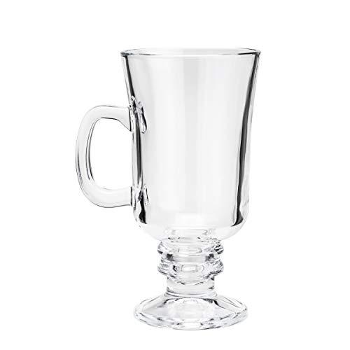 Conjunto 6 Taças para Cappuccino com Alça e Pé de Vidro Lyor Transparente 295Ml