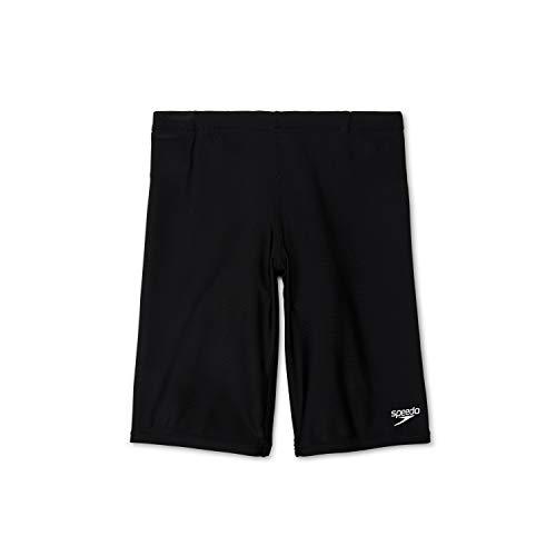 Speedo Boy's Swimsuit Jammer Begin to Swim Solid,Speedo Black,10