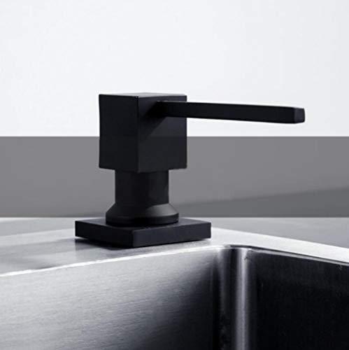 YXISHOME Acier Inoxydable 304 évier Distributeur de Savon ABS Bouteille Cuisine Utilisation Lavabo Accessoires Liquide Recharge Noir
