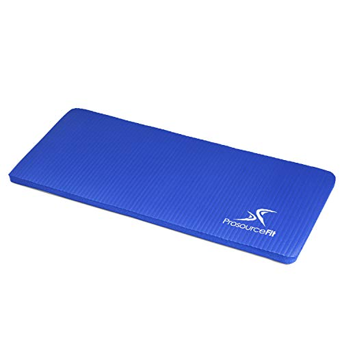 """ProsourceFit Yoga Knee Pad and Elbow Cushion 15mm (5/8"""") Fits Standard Mats for Pain Free Joints in Yoga, Pilates, Floor Workouts, Blue"""