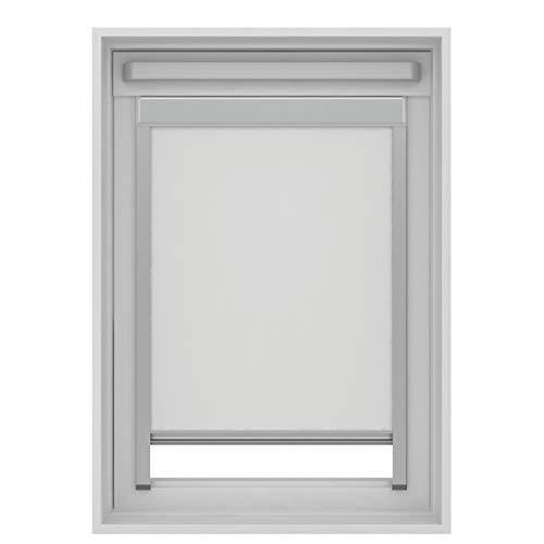 Estor opaco compatible con ventanas de techo Velux (blanco, P10/410/3)