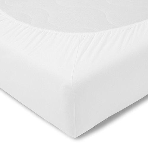 Kneer Fein Jersey Spannbettlaken 120x200 in weiß
