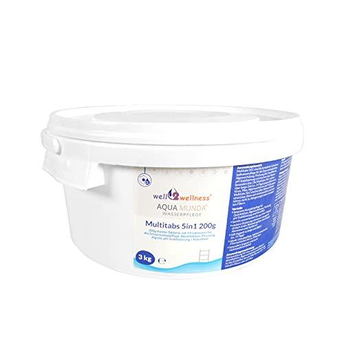 Aqua Munda Wasserpflege Premium Pool Multitabs 5in1 200g 3,0 kg