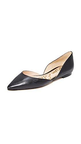 Sam Edelman Women's Rodney Ballet Flat, Black Leather, 5 M US