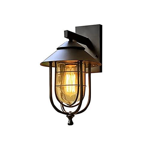 YXLMAONY Lámparas de pared para exteriores de metal impermeables modernas, apliques de luz LED para aplique de pared, apliques de iluminación para pared exterior, lámparas de pared, luz de porche y pa