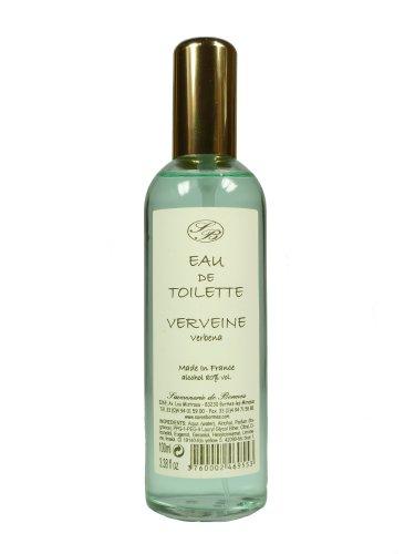 Savonnerie de Bormes: Eau de Toilette Verveine - Verbena, 100 ml Flasche mit Zerstäuber (Spray)
