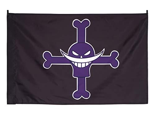 CoolChange Bandera del Jolly Roger de la tripulación de Piratas Barbablanca 96x70cm