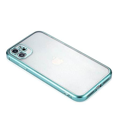 Custodia per telefono in silicone morbido galvanico opaco con bordo dritto per iPhone 11 12 Pro max custodia 12mini 7 8 plus XR X XS MAX cover posteriore, 8, per iphone12pro 6.1