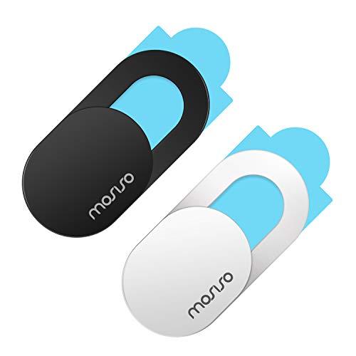 MOSISO Webcam Abdeckung Slide 0,027 Zoll Slider Laptop Kamera Cover Lens Blocker Shell Aufkleber Kompatibel mit MacBook/iPad/iMac/Tablet/Notebook Ultradünner Datenschutzschutz (2er Pack)