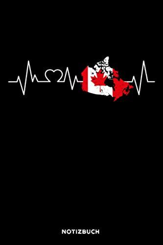 Kanada Herzschlag: Notizbuch für Kanada Fans   liniert   120 Seiten   ca. A5 Format (15.24cm x 22.86 cm)