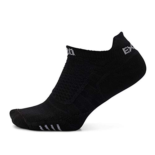 Thorlos Experia Damen Experia Prolite Thin Padded No Show Tab Running Socks Laufshorts, schwarz/schwarz, Small
